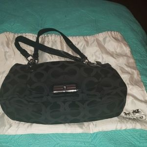 Classic Canvas Coach Purse